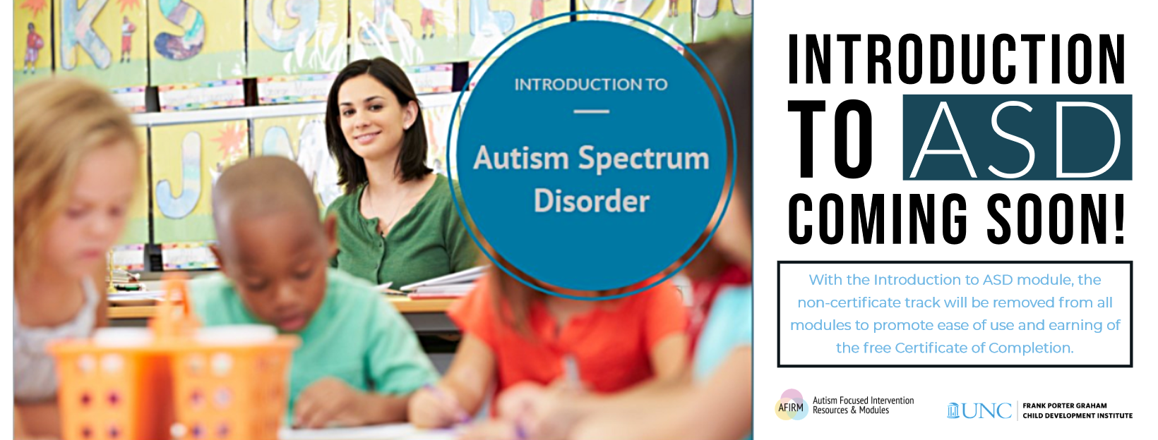 Coming Soon: Introduction to ASD